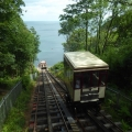 Cliff railway in action at Babbacombe