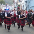 Bagpipes to start the parade