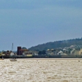 Approaching Starcross by boat