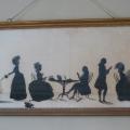Silhouette portrait in A La Ronde