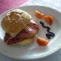 Bacon roll breakfast Dawlish Warren