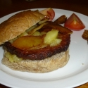 Pork & apple breakfast burger