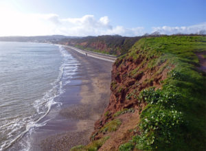 Holiday in Dawlish Warren South Devon coastline