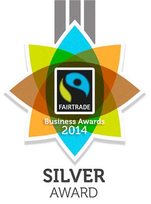 Fairtrade business award silver award B&B Devon